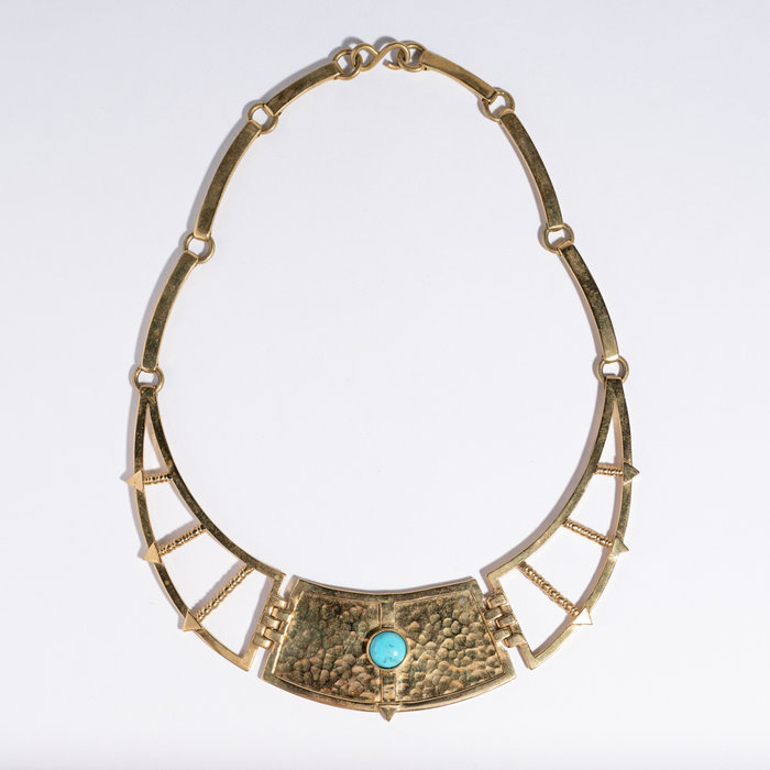 Pamela Love Frida Breastplate Necklace with Turquoise
