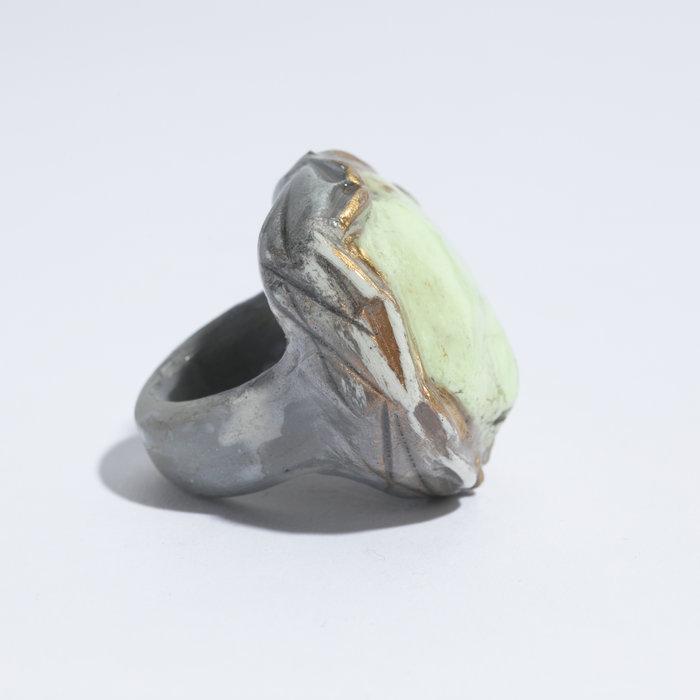 Adina Mills Lemon Chrysoprase Ring