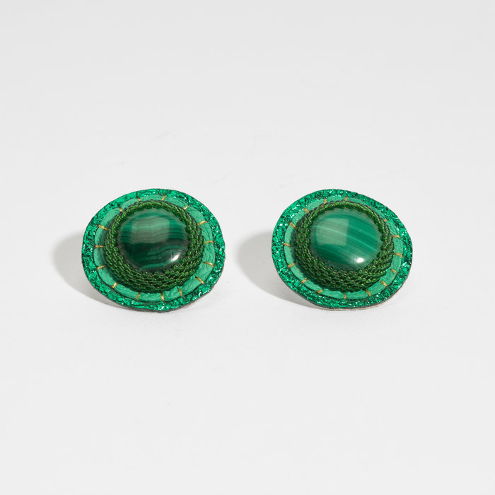 Robin Mollicone Button Earrings