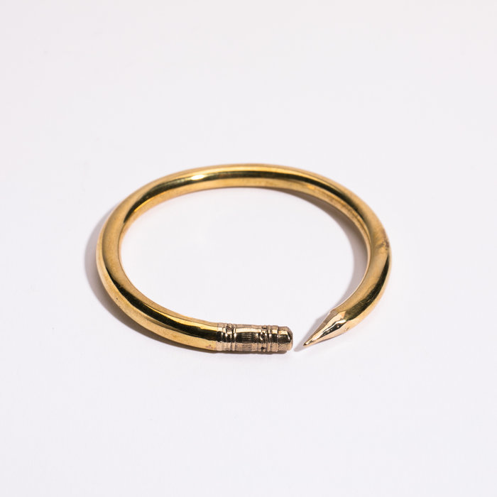 Open House Pencil Bangle Brass