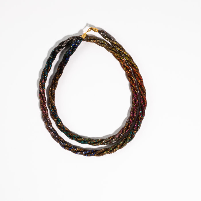 Peppercotton Dark Rainbow Twist Necklace