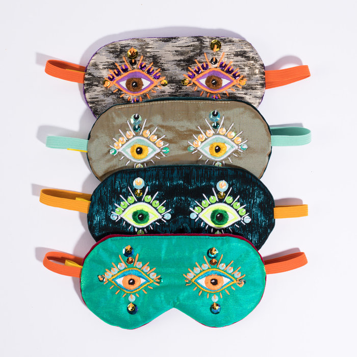Maria Sandhammer Metallic Sequin Sleep Masks