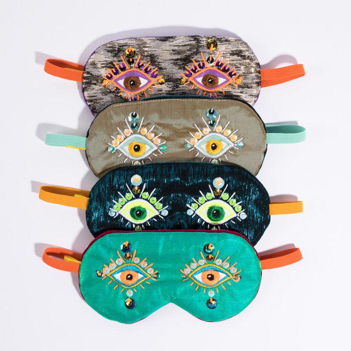 Maria Sandhammer Metallic Sequin Sleep Masks