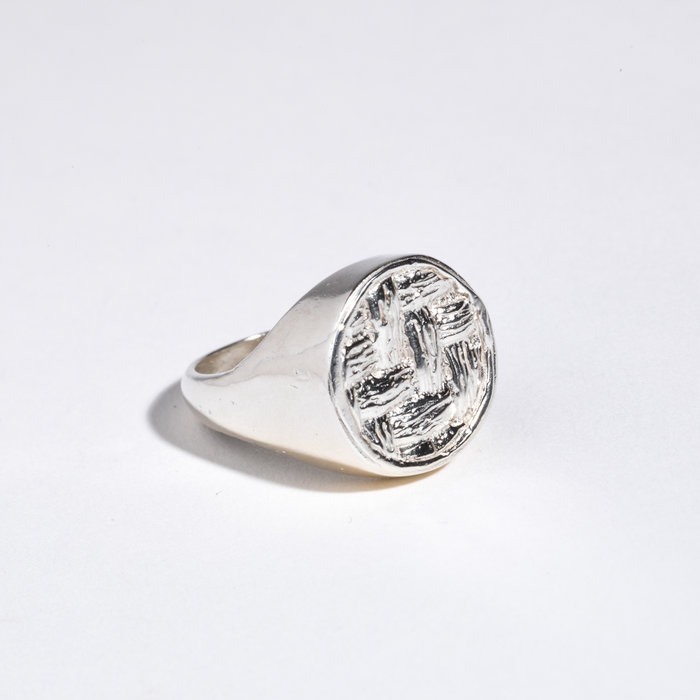 Saint Claude x Freda Basketweave Signet Ring - Sterling