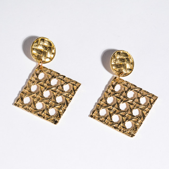 Saint Claude x Freda Caning Dangle Earring - Brass