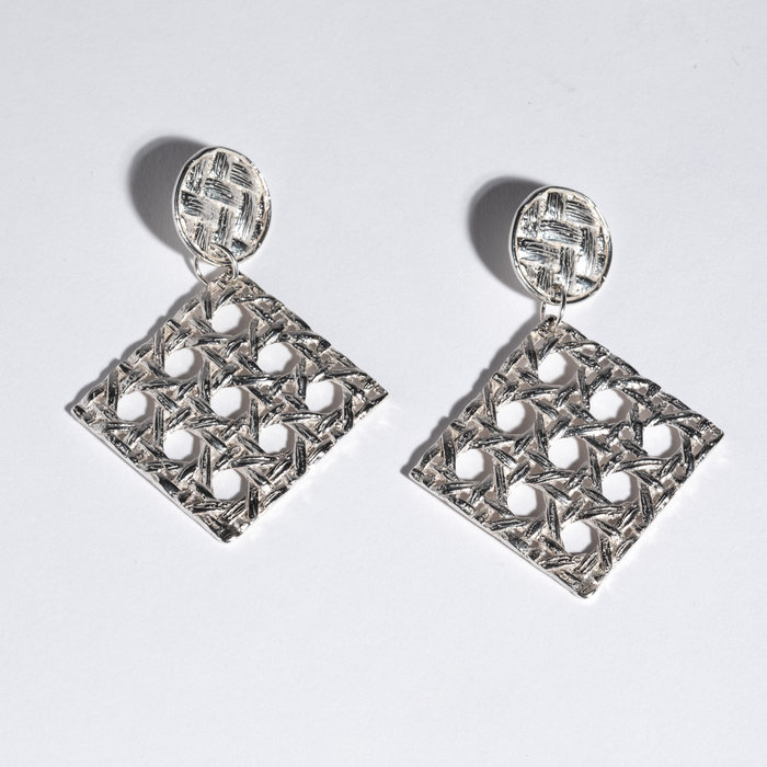 Saint Claude x Freda Caning Dangle Earring - Sterling