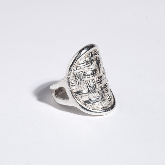 Saint Claude x Freda Oval Basketweave Ring - Sterling