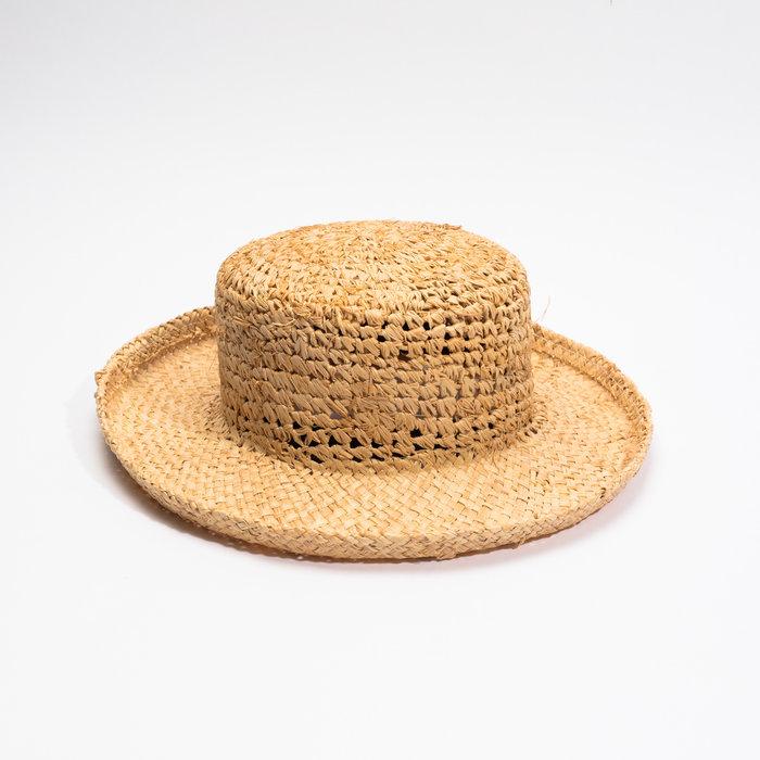 Clyde Saturna Hat - Crochet Raffia