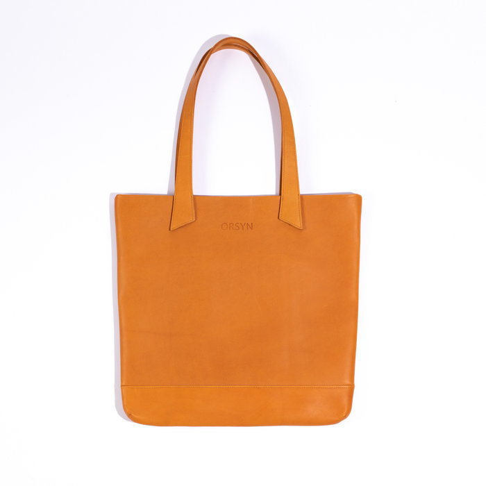Orsyn Magazine Tote - Butterscotch Oil Tan