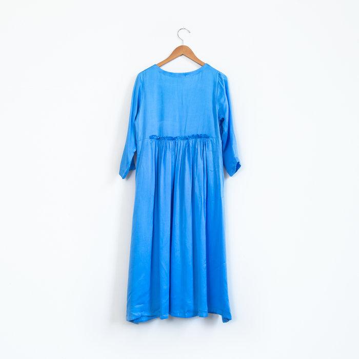 Hell Bitch Silk Pullover Dress - Cornflower Blue