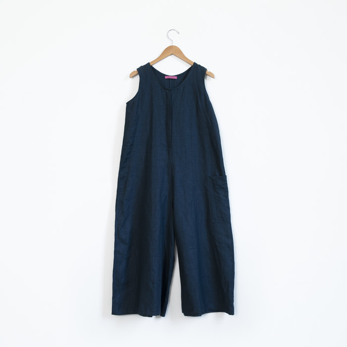 Hell Bitch Pure Linen Wide Leg Dungarees