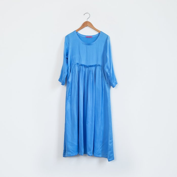Hell Bitch Silk Pullover Dress - Cornflower Blue