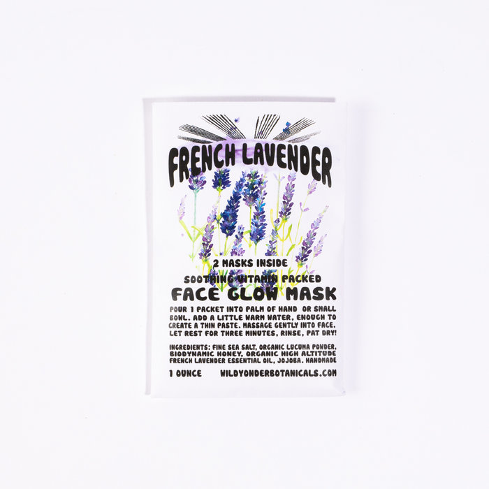 Wild Yonder Botanicals French Lavender Face Glow Mask
