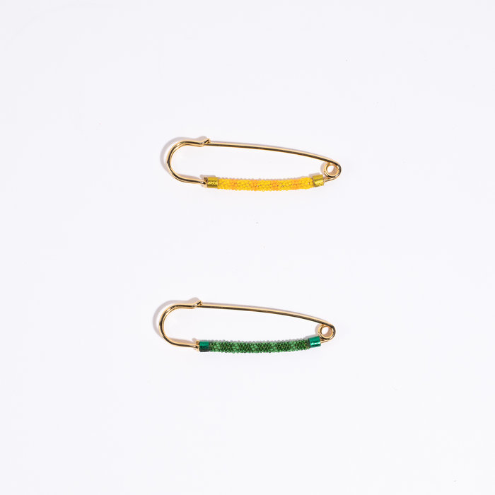Robin Mollicone Beaded Safety Pin