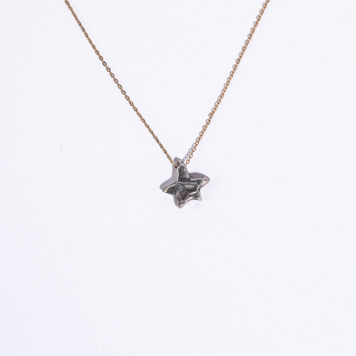 Unearthen Star Necklace with Gold Chain