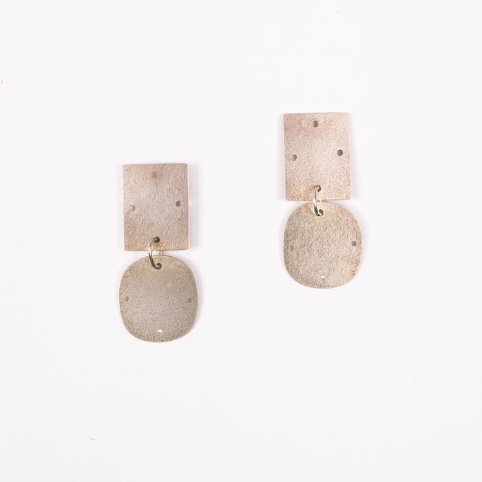 Annie Costello Brown Overt Small Earrings - Sterling