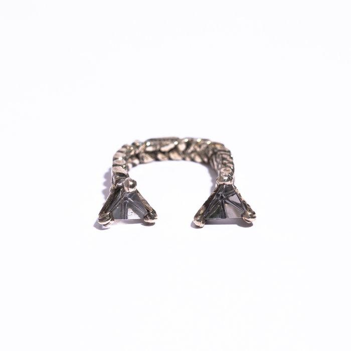 Unearthen Mini Double Prism Open Ring