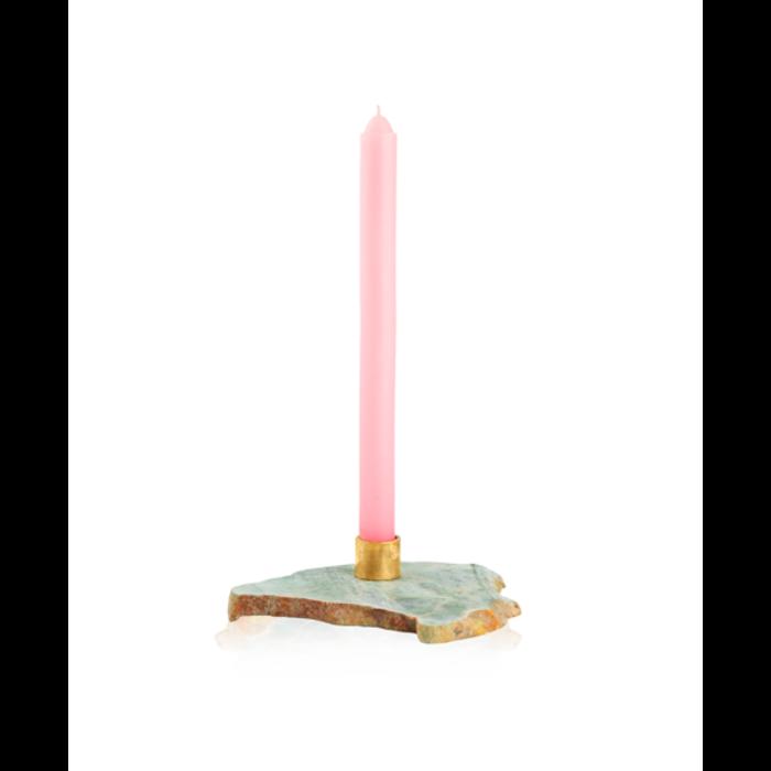 Aesa Green Jade Candlestick