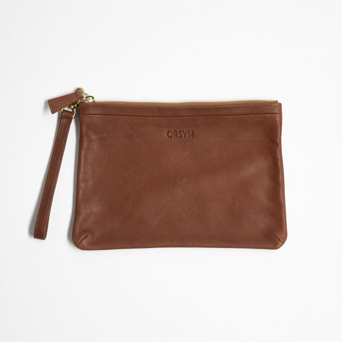 Orsyn Pouch with Wristlet - Mahogany