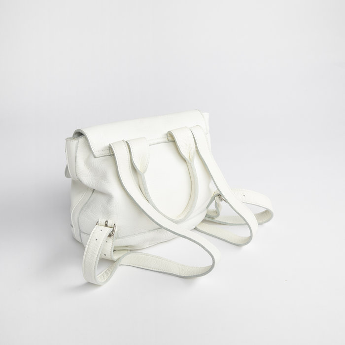 Clyde Small Room Backpack in White