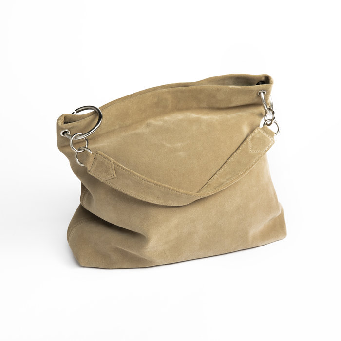 Clyde World Bag in Sand Suede