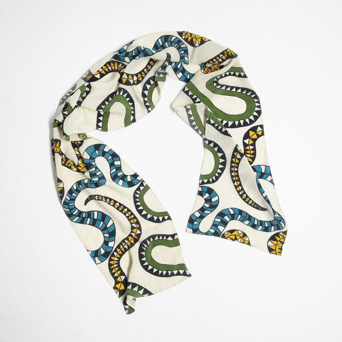 Miss KK Snake Print Scarf