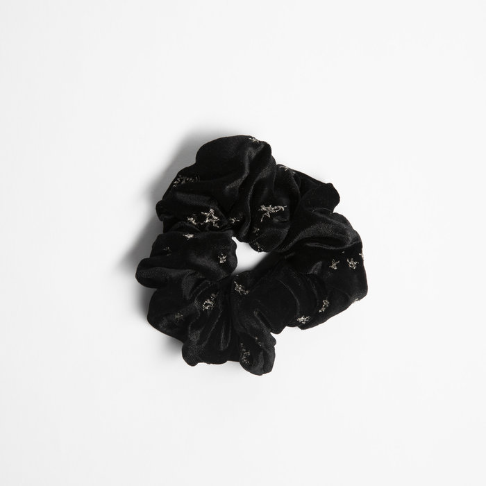 Samantha Pleet Scrunchy - Black Velvet