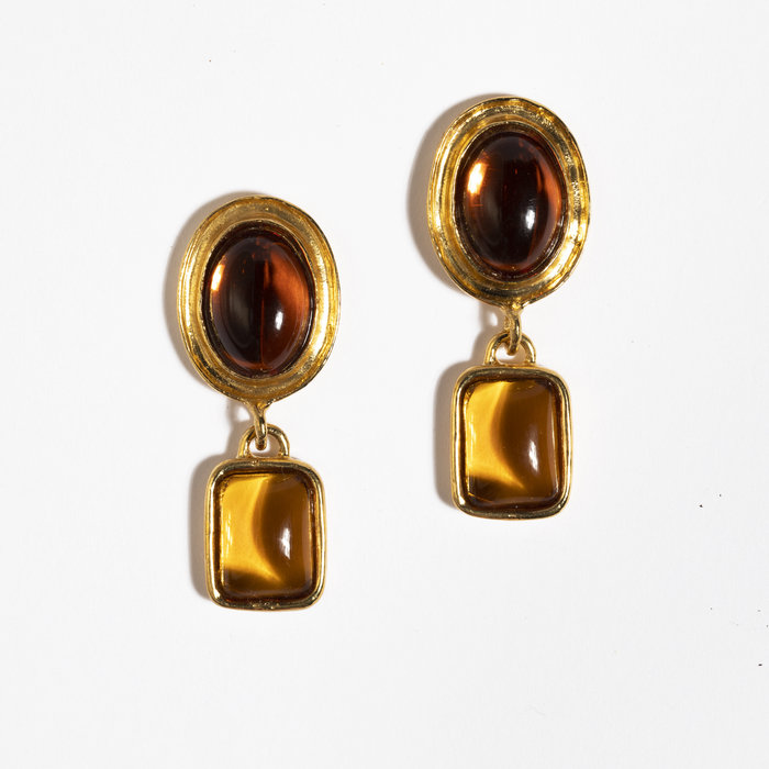 Mondo Mondo Jelly Earrings - Amber