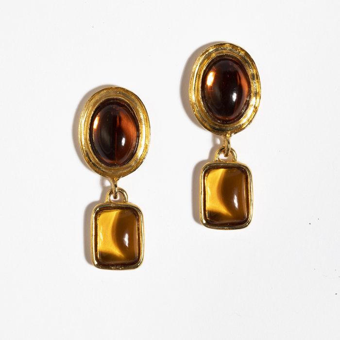 Mondo Mondo Jelly Earrings - Amber