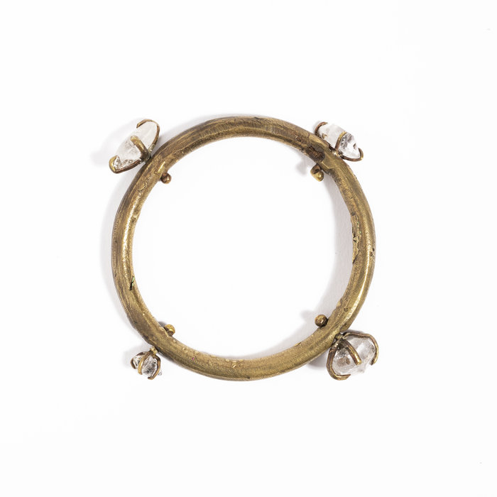 Unearthen Bangle Bracelet with 4 Quartz