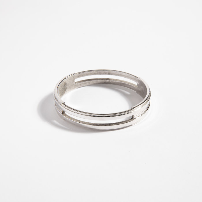 Aesa Water De Luz Bangle #1 (Silver Plate)