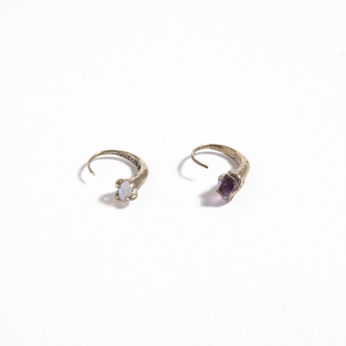 Unearthen Mismatched Mini Eros Hoop Earrings