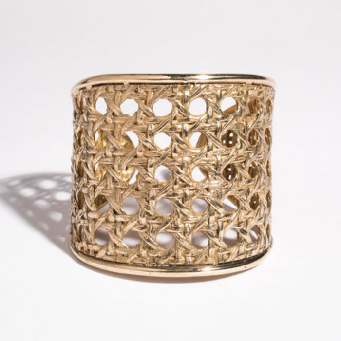 Saint Claude x Freda Large Caning Cuff - Brass