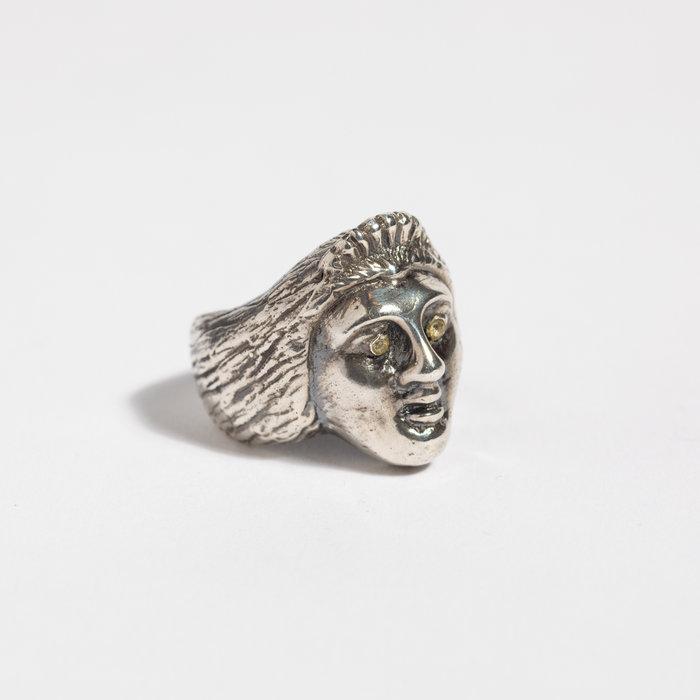 Saint Claude x Freda Ladyface Ring - Sterling w/White Sapphire