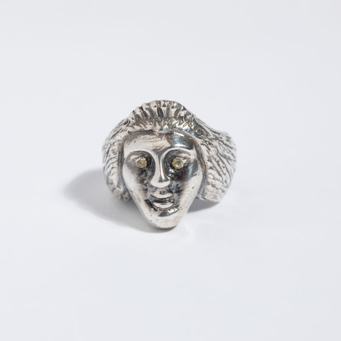 Saint Claude x Freda Ladyface Ring - Sterling w/White Sapphire
