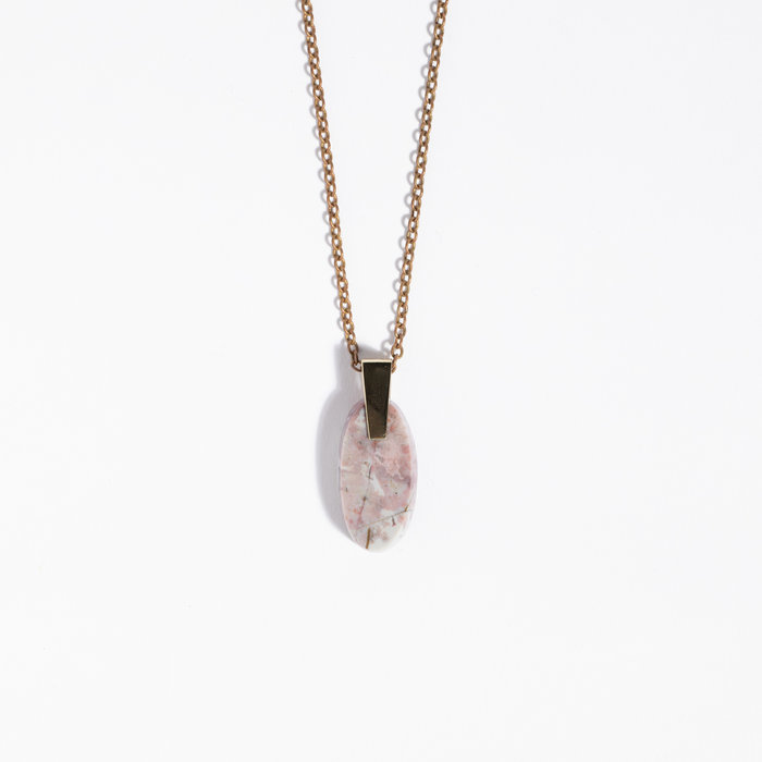 Aesa x Freda Small Agate Necklace