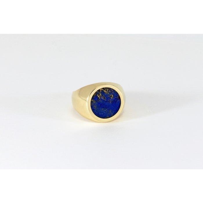 Legier Brass Round Stone Signet Ring
