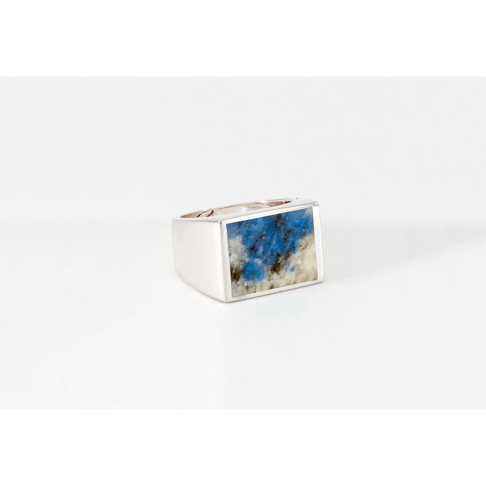 Legier Silver Stone Signet Ring