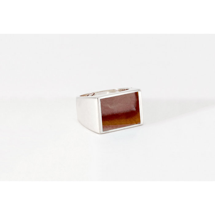 Legier Silver Wonderstone Signet Ring