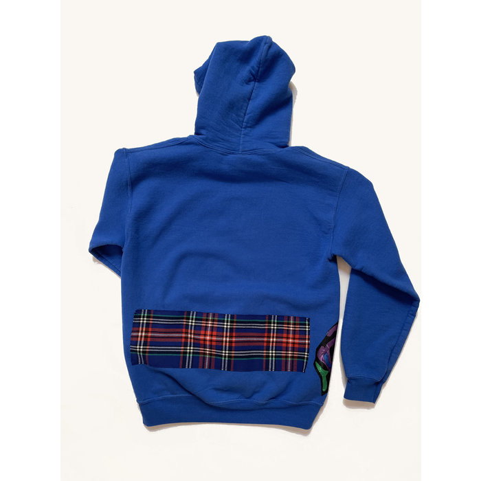Katherine St. Paul Hill Vintage Patch Hoodie - Royal Blue