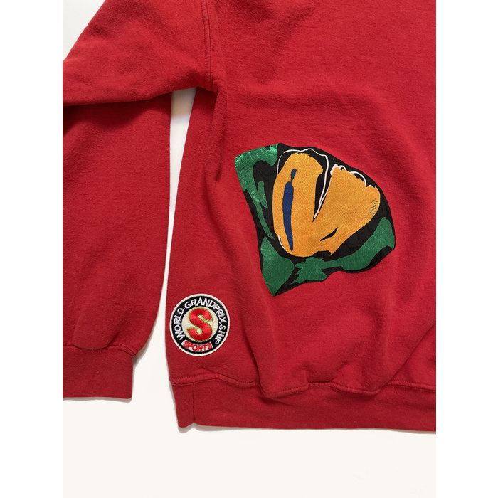 Katherine St. Paul Hill Vintage Patch Hoodie - Red