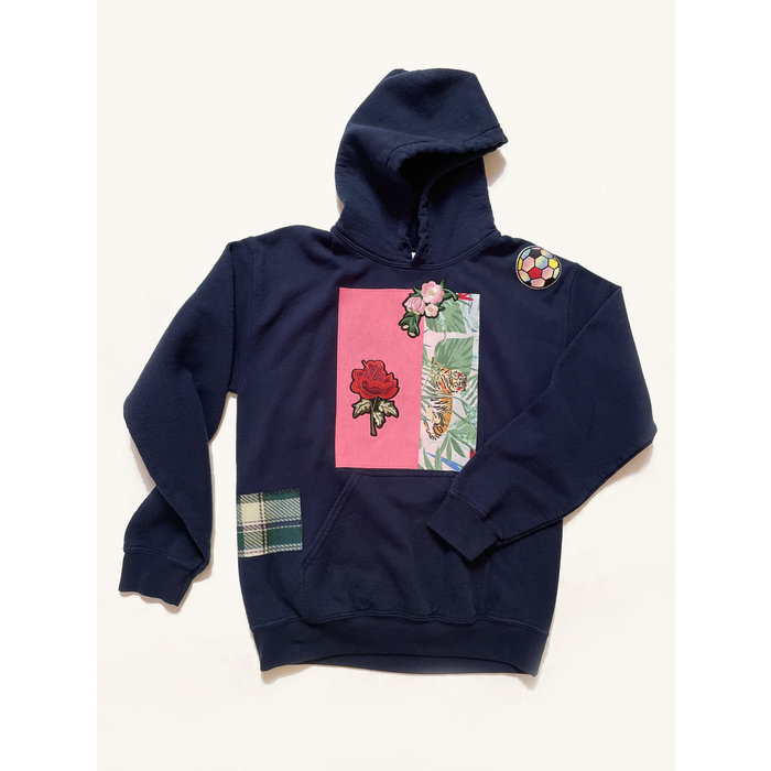 Katherine St. Paul Hill Vintage Patch Hoodie - Navy