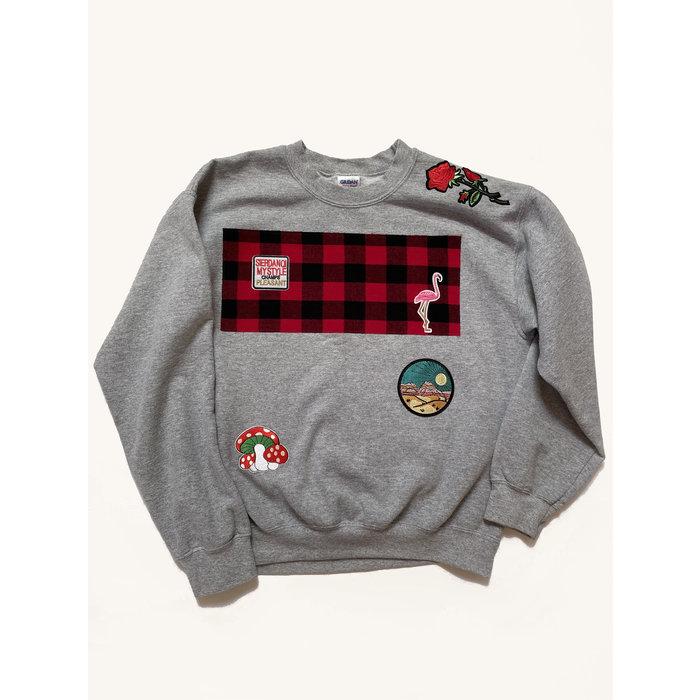 Katherine St. Paul Hill Vintage Patch Sweatshirt - Grey