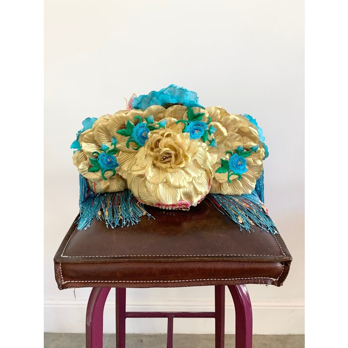 Kate McNee Headdress - Turquoise/Gold