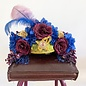 Kate McNee Headdress - Blue/Purple/Gold