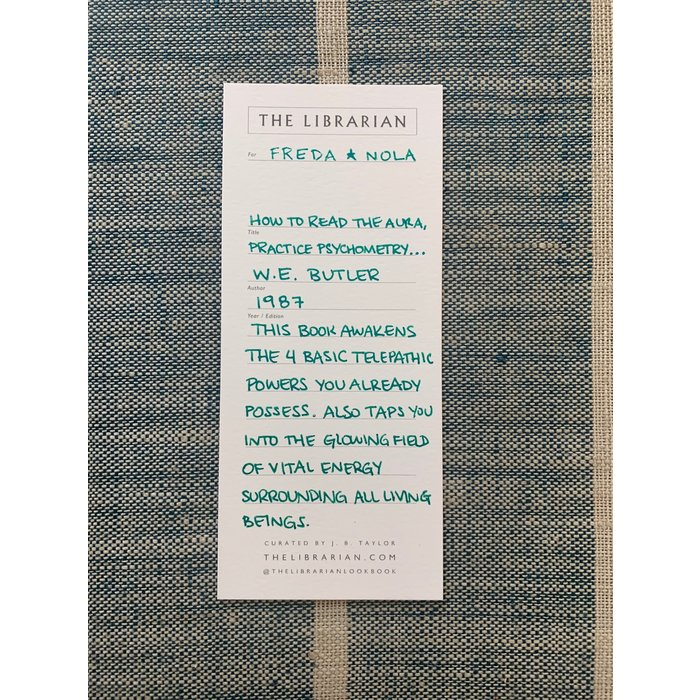 The Librarian How to Read Aura