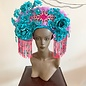 Kate McNee Headdress - Hot Pink Gems