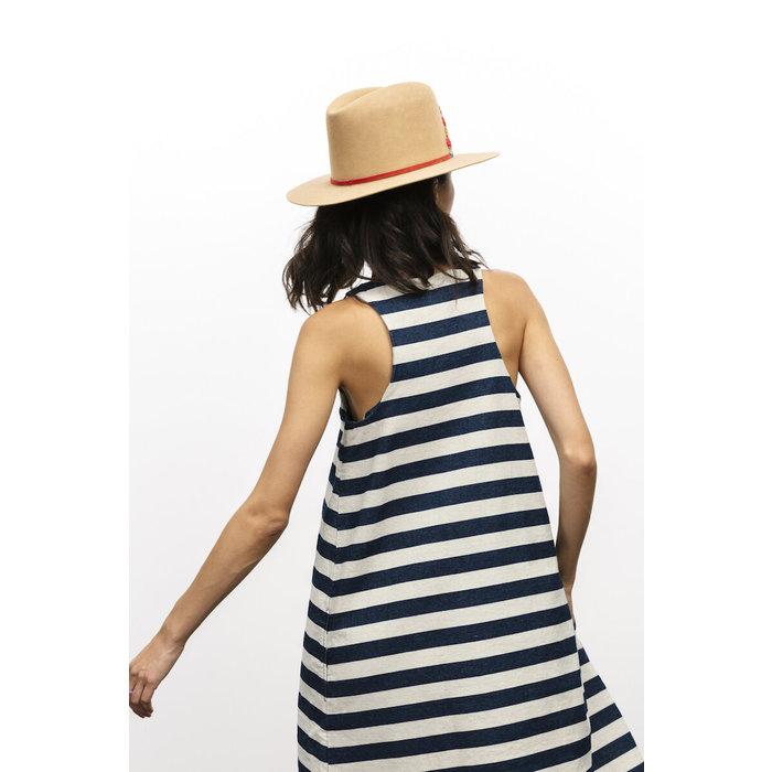 Carleen Stripe Denim Dress