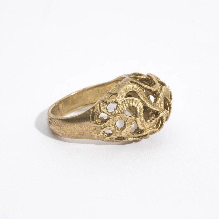 Saint Claude Trompa Del Elefante Ring - Brass