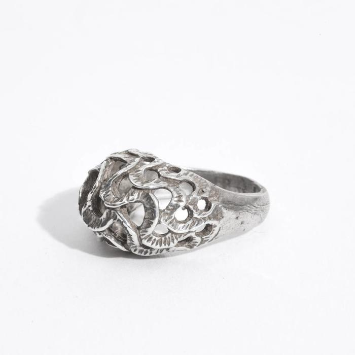 Saint Claude Trompa del Elefante Ring - Sterling